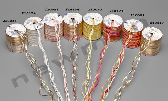 Υλικά NewMan: Κορδέλα Raffia Multicolor set 2