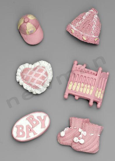 polyesterika magnitakia roz set 1 220884