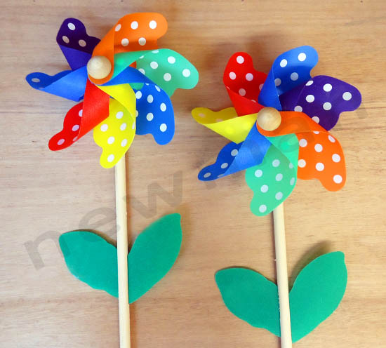 Ξύλινος ανεμόμυλος λουλούδι!