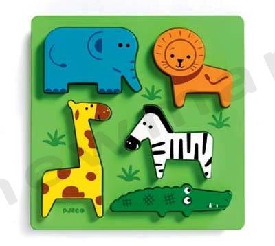 puzzle djeco kids 1-4 zougkla prasino copy