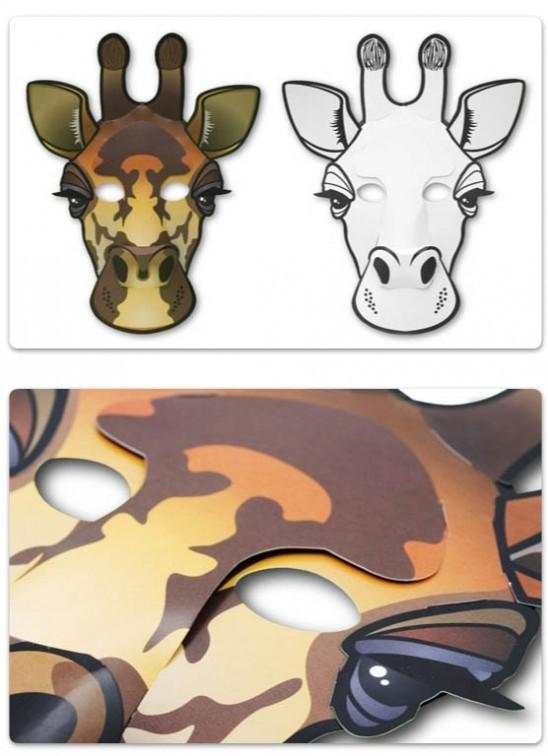 mask to decorate giraffe