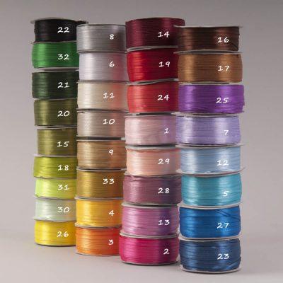 Σατέν κορδέλα 3mm χρώματα!