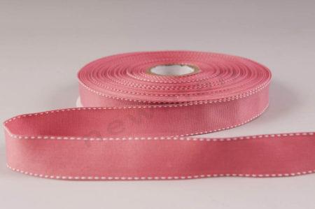 021 Ροζ σκούρο με λευκό γαζί