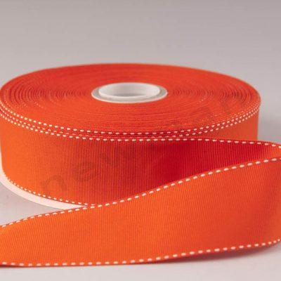 080 Πορτοκαλί με λευκό γαζί