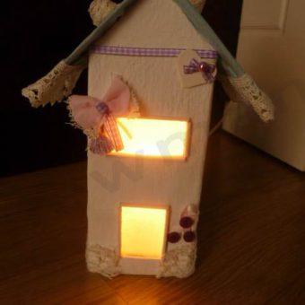 Παιδικά φωτιστικά σπιτάκια με υλικά NewMan