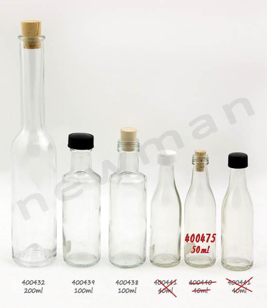 Μπουκάλια γυάλινα 50 & 100ml