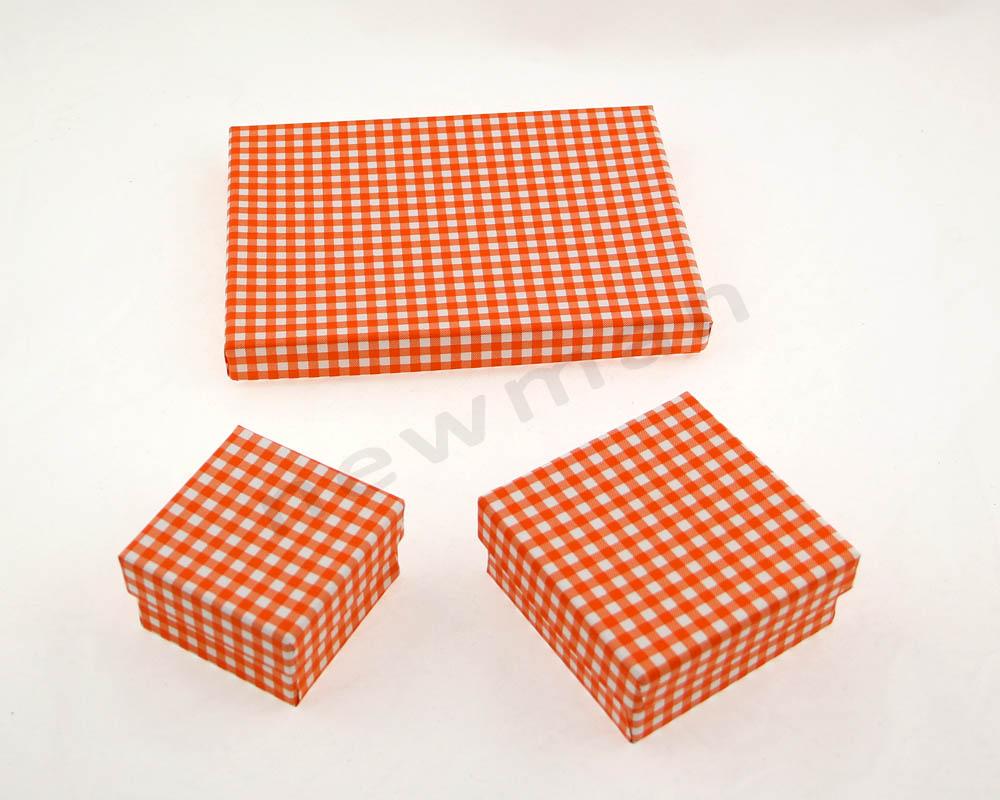 006. Πορτοκαλί-λευκό καρό
