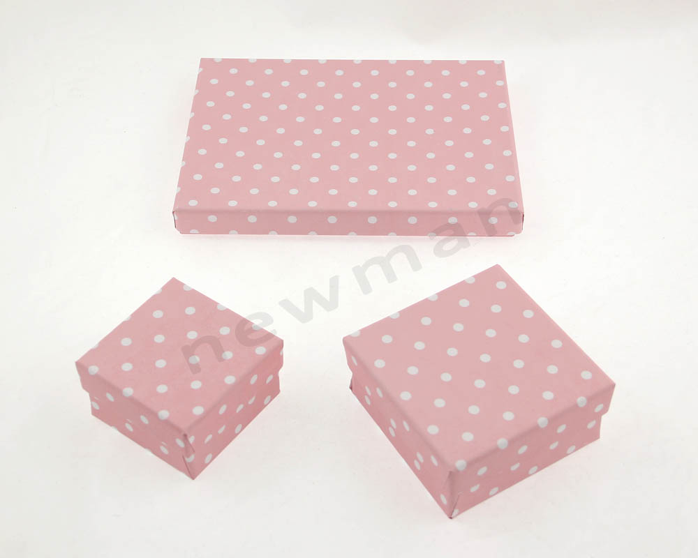 012. Ροζ με λευκό πουά