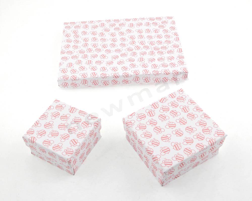 Λευκό με ροζ μελισσούλες