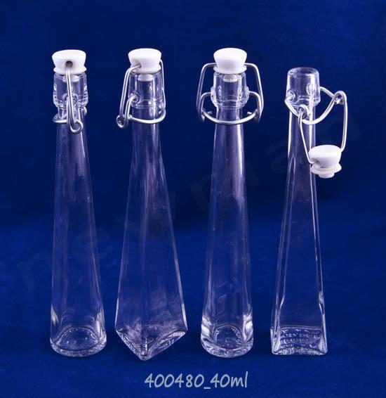 Μπουκάλι Dama Mignon 40ml με μηχανικό πώμα σε 4 σχήματα