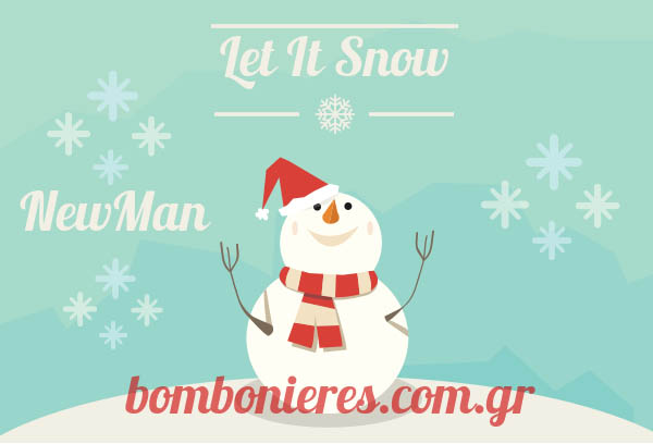 let it snow newman bombonieres