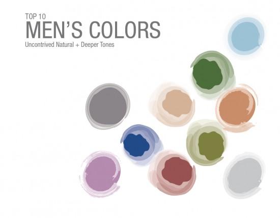 Men's Top 10 colors 2015