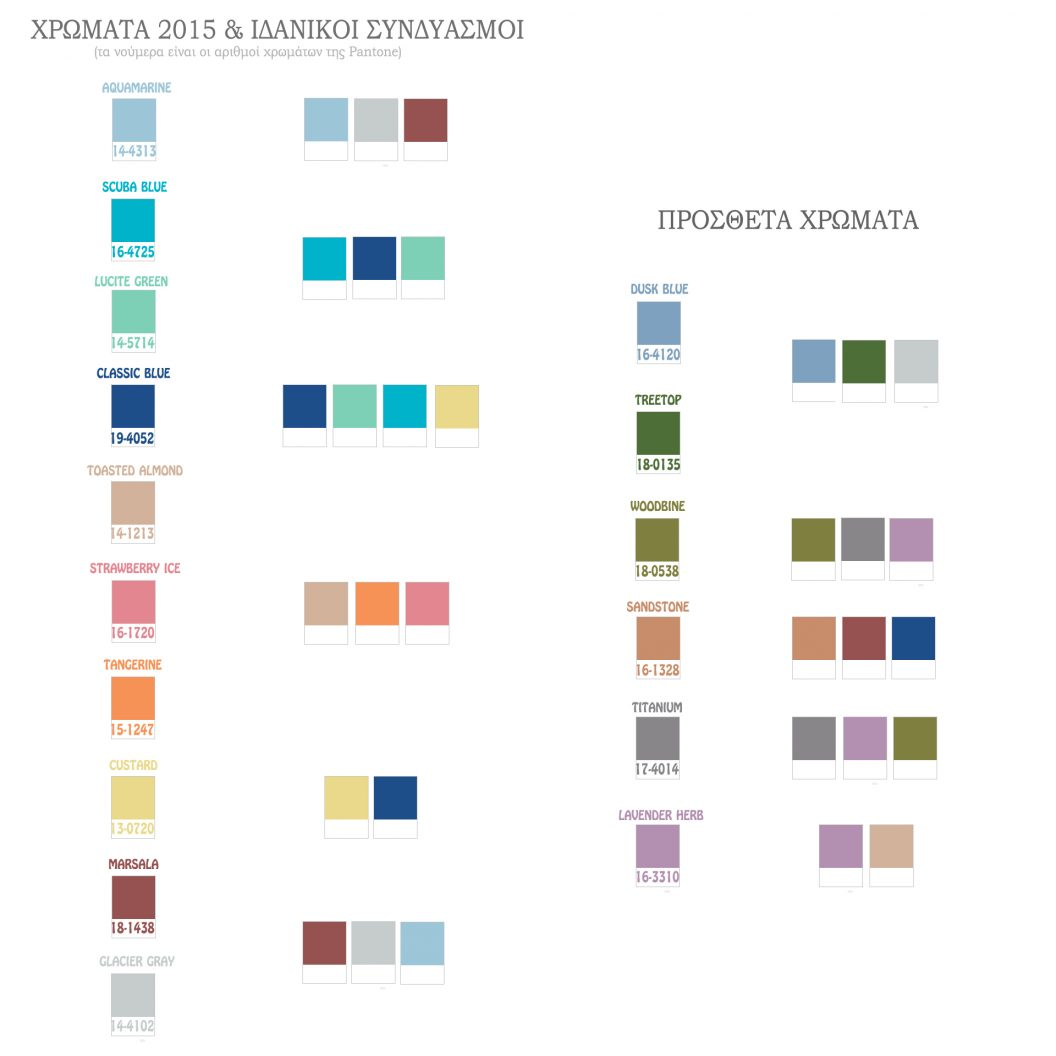 top colors 2015 & best combinations