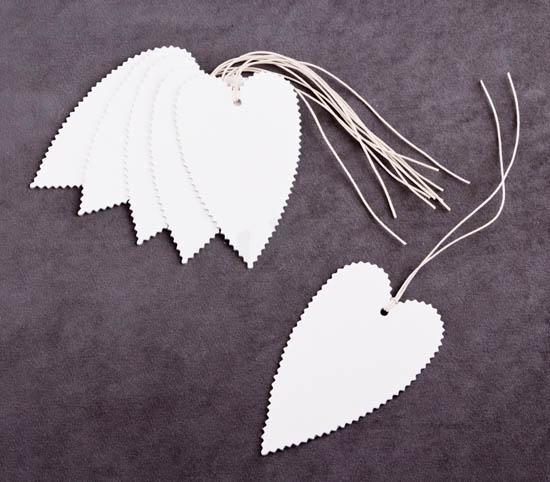 Λευκές καρδιές ετικέτες