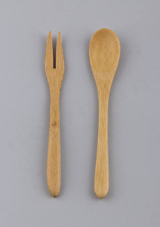 Πιρούνι & κουτάλι μπαμπού