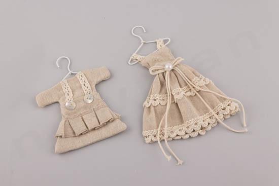 Μπομπονιέρα φόρεμα λινάτσα
