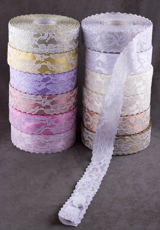 Χρώματα για κορδέλα Δαντέλα-σατέν συννεφάκι