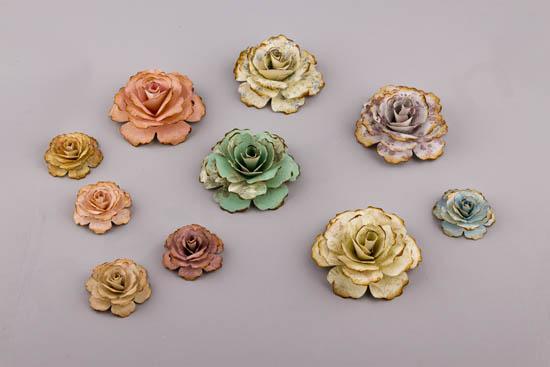 Handmade paper deco flowers