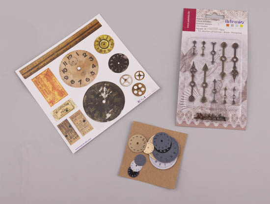 Αυτοκόλλητα, μεταλλικοί δείκτες & χάρτινα ρολόγια για scrap-booking