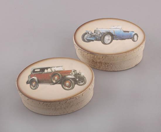 232059 ~ Χειροποίητα κουτιά με Vintage αμάξια