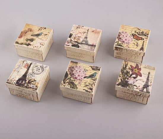 232058 ~ Χειροποίτα χ'αρτινα κουτιά σε 6 vintage σχέδια Θέμα Παρίσι