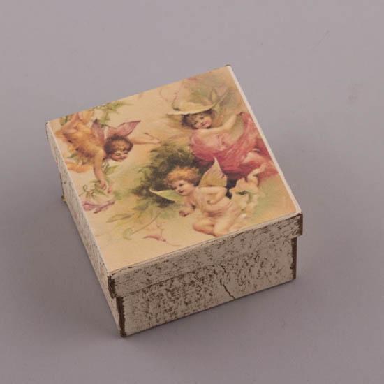 Τετράγωνο χειροποίητο κουτί με Αγγελάκι