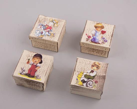 232062 ~ Handmade Κουτιά Παιδάκια σε 4 σχέδια