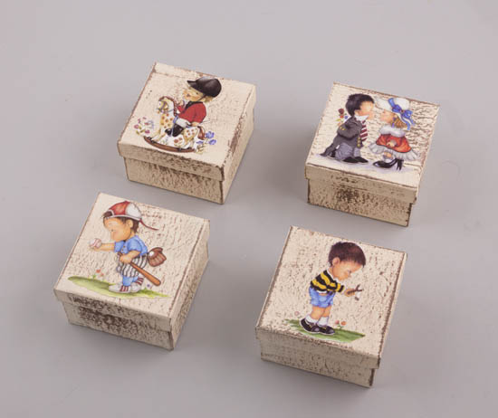232054 ~ Handmade Κουτιά Παιδάκια σε 4 σχέδια