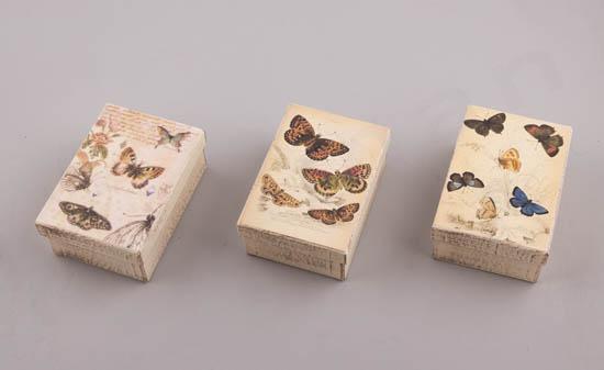 232064 ~ Κουτιά χειροποίητα με πεταλούδες σε 3 σχέδια