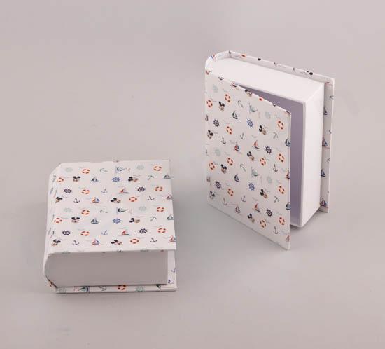Κουτί βιβλίο με ναυτικά σχέδια