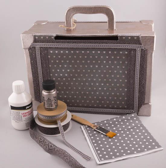 Βαλίτσα decoupage υλικά χειροτεχνίας NewMan