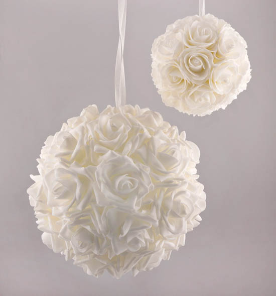Μικρή & Μεγάλη μπάλα Τριαντάφυλλα Λευκή