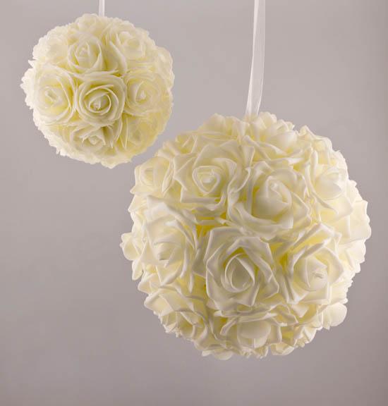 Μικρή & Μεγάλη μπάλα Τριαντάφυλλα Ιβουάρ
