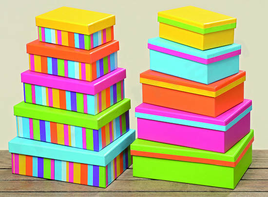 Χάρτινα χρωματιστά κουτιά αποθήκευσης  e7633df6813