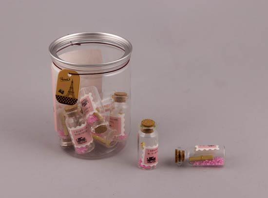Συσκευασία με μίνι μπουκαλάκια  ΡΟΖ