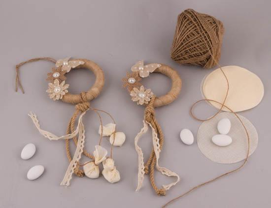 Υλικά για DIY μπομπονιέρα στεφανάκι