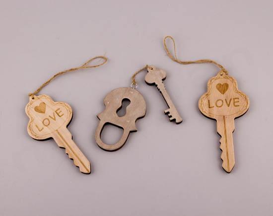 Κλειδί LOVE & κλειδί με λουκέτο