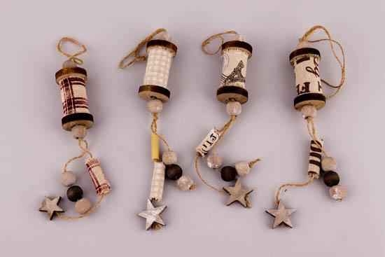Κρεμαστές κουβαρίστρες με χάντρες & αστέρια
