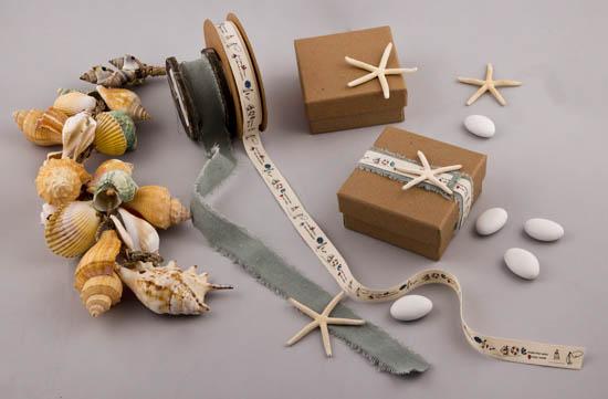 Υλικά για μπομπονιέρα ναυτική σε οικολογικό κουτί