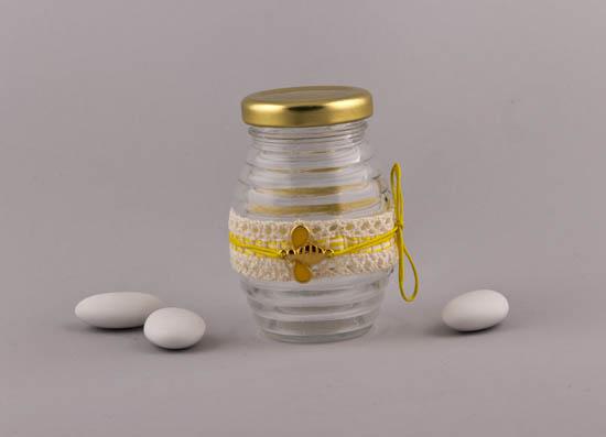 Μπομπονιέρα Μελισσούλα σε βαζάκι μελιού