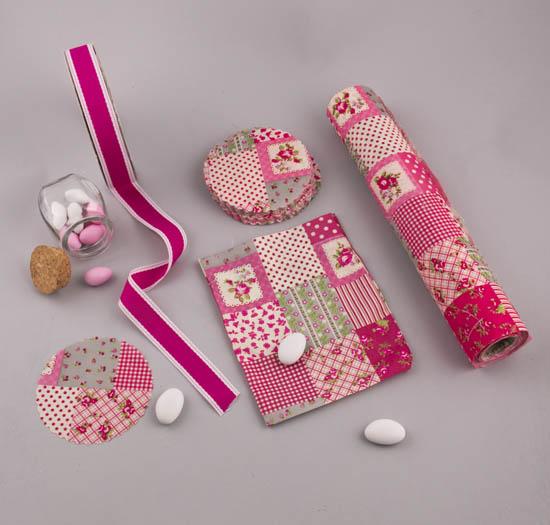 Υλικά σε χρώμα ροζ μοτίβο Λουλούδια