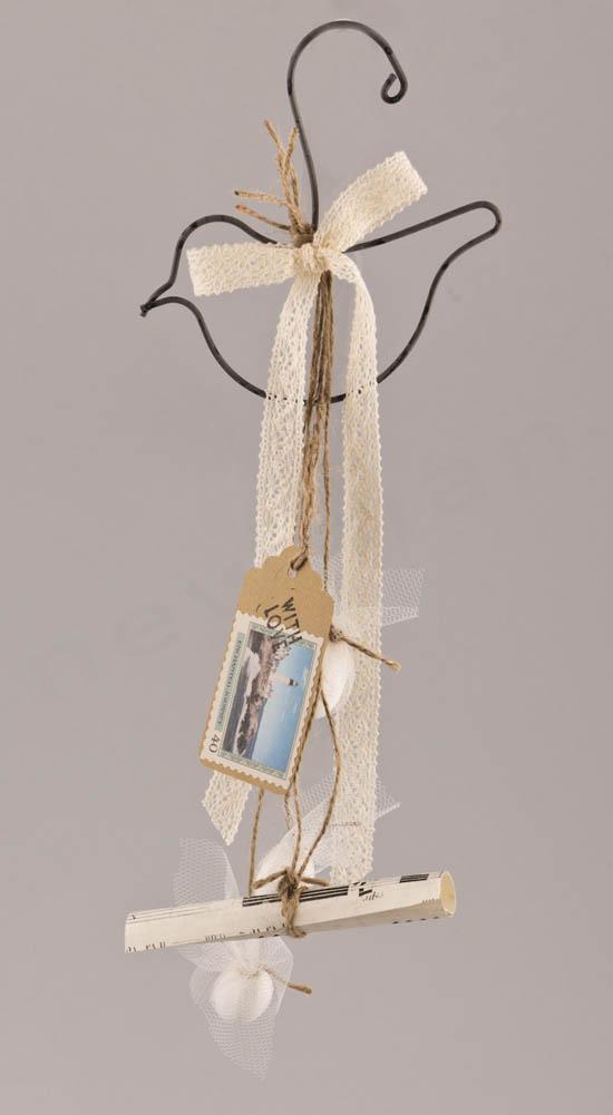 Μπομπονιέρα κρεμαστή Πουλάκι με 3 κουφέτα