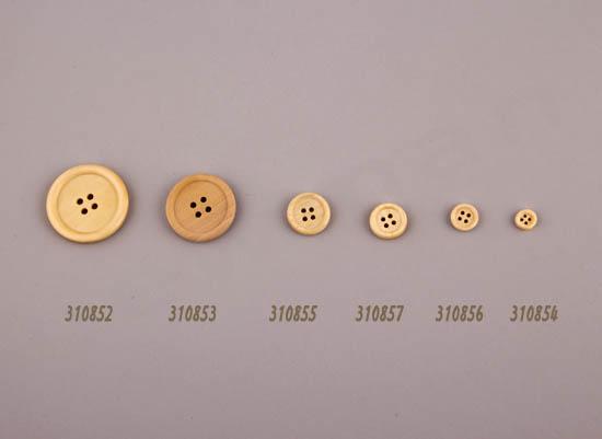 6 μεγέθη ξύλινα κουμπιά
