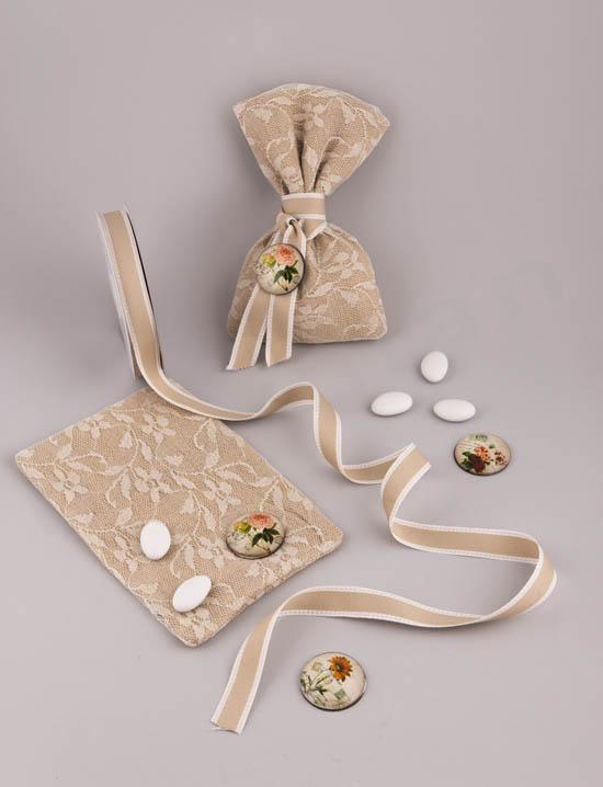 Υλικά για DIY ρομαντική μπομπονιέρα