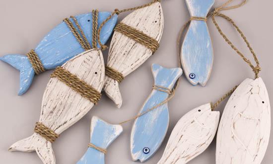 Διακοσμητικά ξύλινα Ψάρια