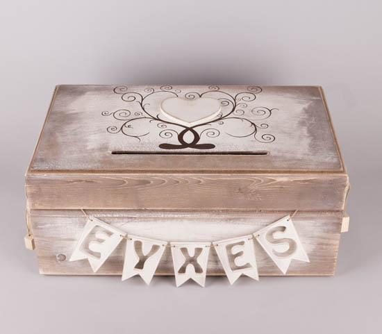 Κουτί ξύλινο με καρδιά