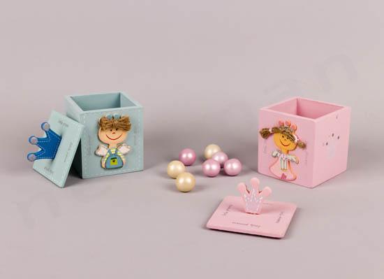 Κουτιά ξύλινα Πρίγκιπας & Πριγκίπισσα