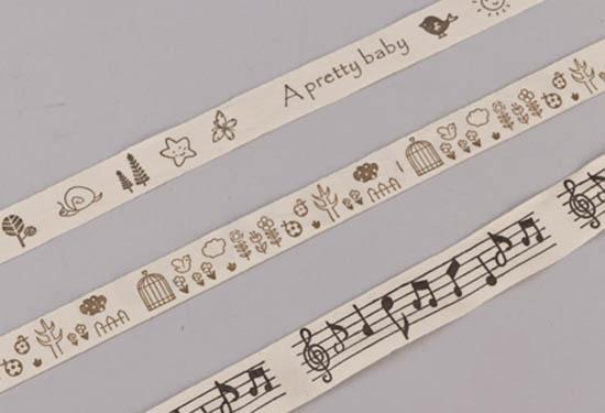 Ivory κορδέλες με σχέδια