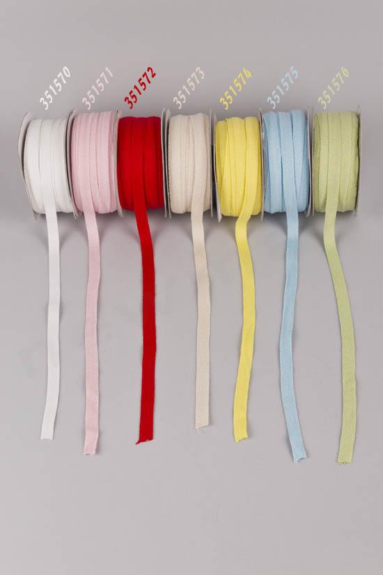 Χρώματα σε βαμβακερές κορδέλες