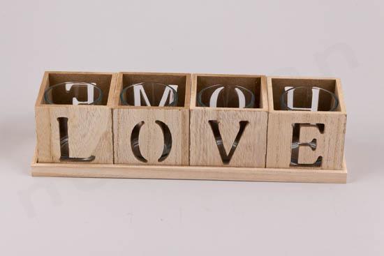 4 κεράκια ρεσό LOVE